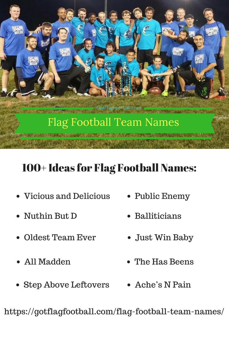 Flag Football Team Names: Good  Funny  Best of 2019 Season