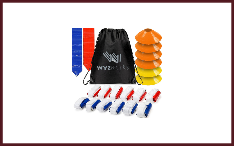 WYZworks 12 Player 3 Flag Football Kit Set – 12 Belts With 36 Flags + Bonus 6 Cones + Travel Bag Review